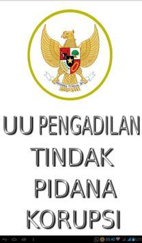 UU Pengadilan Pidana Korupsi poster