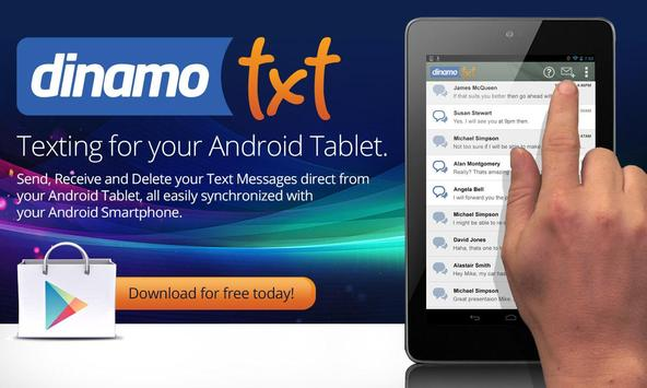 Tablet SMS Messaging Dinamotxt poster