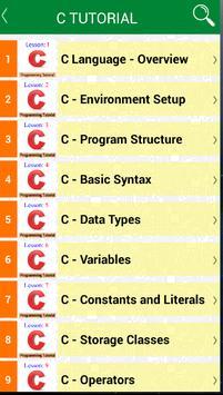 Learning C Programming apk screenshot