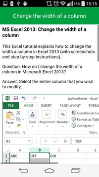 Learn Excel Tutorial Free apk screenshot