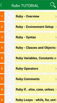 Learning Ruby programming poster