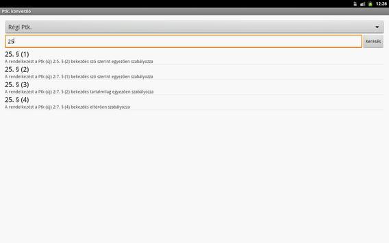Opten új Ptk. konverziós tábla apk screenshot