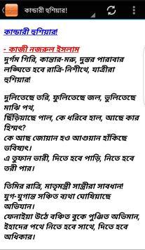 নজরুল ইসলাম : ২৩ টি কবিতা apk screenshot