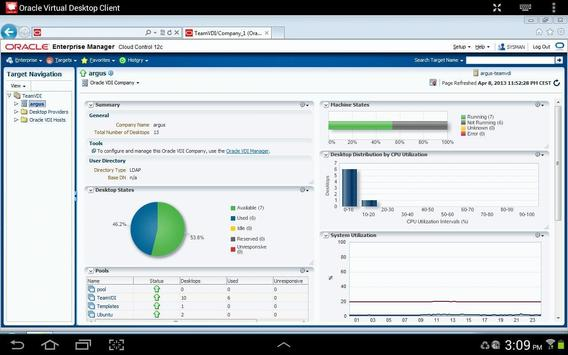 Oracle Virtual Desktop Client apk screenshot