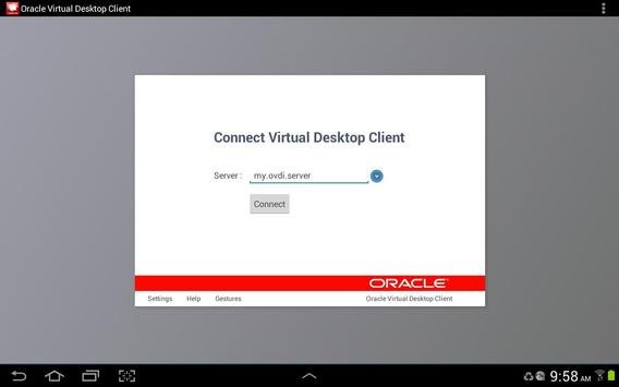 Oracle Virtual Desktop Client poster