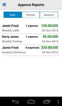 Oracle Fusion Expenses apk screenshot