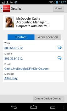 Contact Employee for JDE E1 apk screenshot
