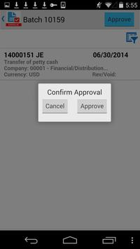G/L Batch Approvals for JDE E1 apk screenshot