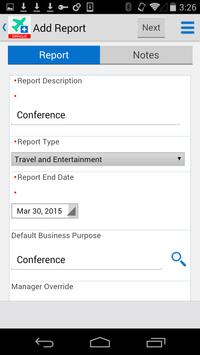 Expense Entry for JDE E1 apk screenshot