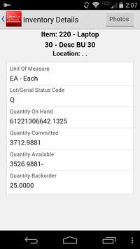 Inventory Avail for JDE E1 apk screenshot