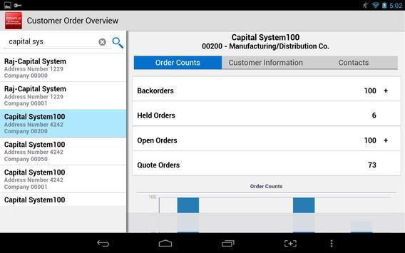 Customer Orders - JDE E1 apk screenshot