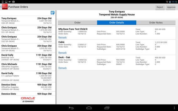 PO Approvals - JDE E1 apk screenshot