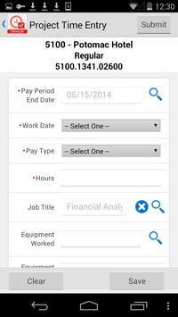 Project Time Entry for JDE E1 apk screenshot