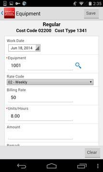 Field Prog Equip Entry JDE E1 apk screenshot