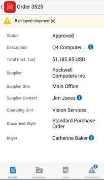 Procurement for EBS apk screenshot