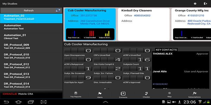 Oracle Mobile CRA apk screenshot