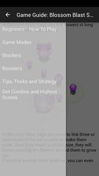 Game Guide: Blossom Blast Saga apk screenshot