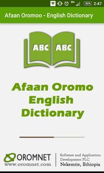 Afaan Oromo English Dictionary poster