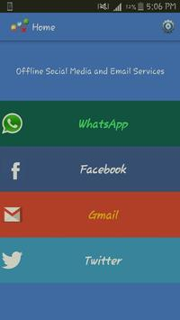 Offline Social Media and Email poster