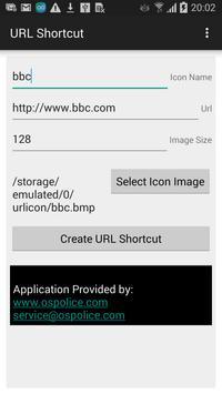 URL shortcut creator apk screenshot