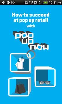 Pop Up Now NZ poster