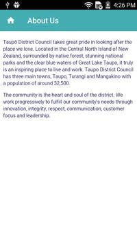Taupo District Council apk screenshot