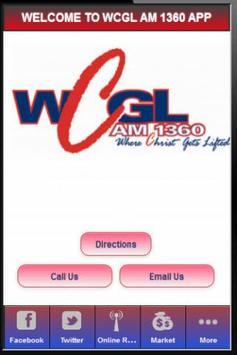 WCGL AM 1360 RADIO STATION poster