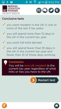 BLP Tax Residence Test apk screenshot