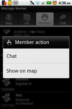 GPS Message Marker apk screenshot