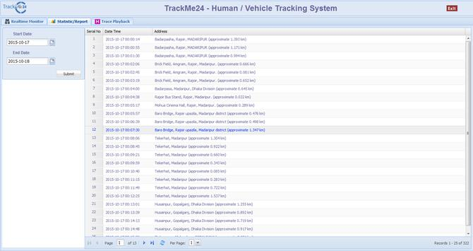 Online Tracking System poster