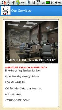 American Tobacco Barber Shop poster