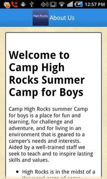 Camp High Rocks poster