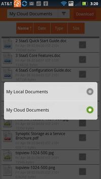 AT&T Synaptic Storage apk screenshot