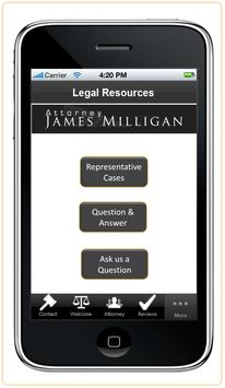 Attorney James Milligan apk screenshot