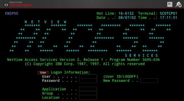 Verastream Terminal Client apk screenshot