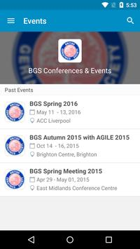 BGS Events poster