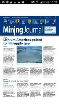 Mining Journal poster