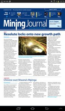 Mining Journal apk screenshot