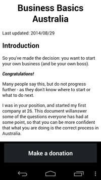 Business Basics Australia poster