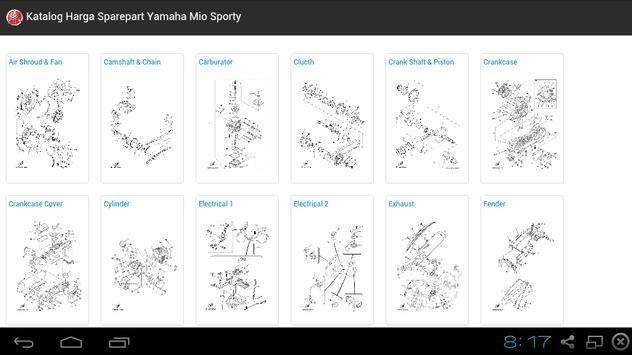 Yamaha Mio Sporty Sparepart apk screenshot