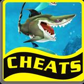 Cheats Hungry Shark World icon