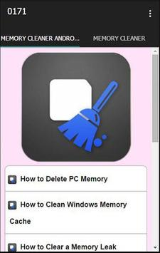 Auto Memory Cleaner Tip poster