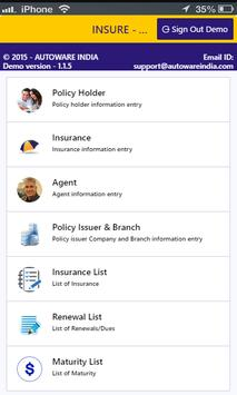 INSURE apk screenshot