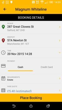 Magnum Whiteline Taxi App apk screenshot