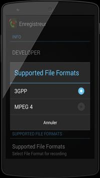 Enregistreur d'appel 2015 apk screenshot