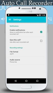 Automatic Call Record Pro 2016 apk screenshot