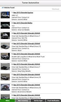 Turner Automotive Dealer App apk screenshot
