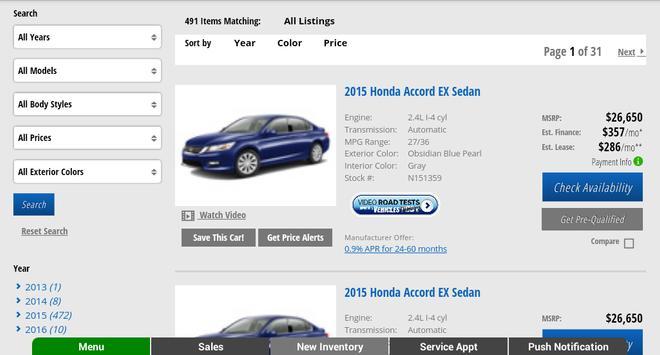 Advantage Honda apk screenshot