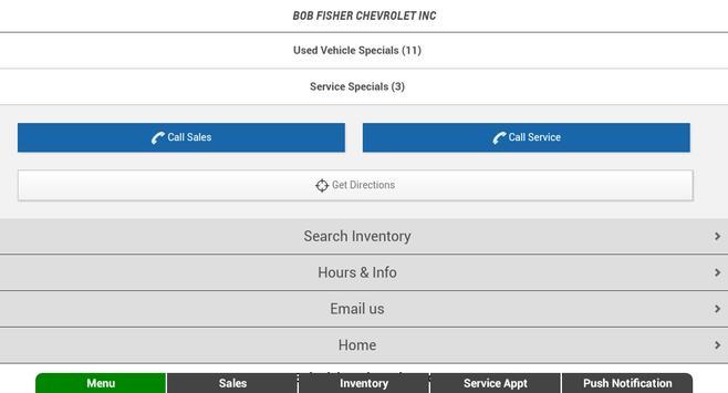 Bob Fisher Chevrolet apk screenshot