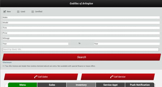 Cadillac of Arlington apk screenshot